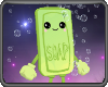 Kawaii Green Soap With Bubbles