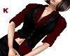 Waistcoat Vest Black Red