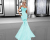 Teal Fishtail Gown