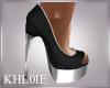 K Mika blk silver heels