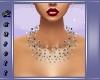 *L Pearls grey Necklace