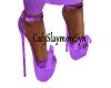 purple summer pumps
