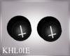 K unholy goth ear plugs