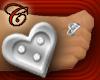 Silver Heart Toe Ring