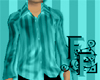 Striped Silk - Aqua