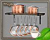 Copper Pots/Pans Rack