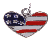 Charms - USA Heart