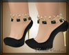 E- Shoes black gold