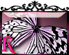 *R* BW Butterfly Sticker