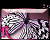 *R* BW Butterfly Sticker