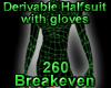 Derivable Halfsuit glove