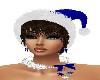 X-MAS BLUE HAT/BROWN