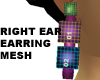 Right Ear Earring Mesh