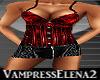 Vampiress Red Short Set