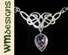 WM Amethyst Celtic Pndnt
