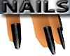 Short Black Nails