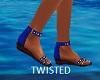 Shada Summer Flats Blue