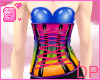 [DP] Rainbow-Blue Corset