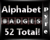 52 Black/Silver Badges