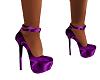 Purple Satin Stilleto