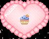 Blue cupcake badge
