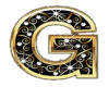 Gold & Diamonds Letter G