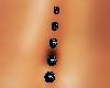 belly diamond ring black