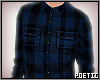 P|BluePlaidShirt
