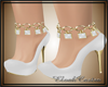 E-Shoes white gold