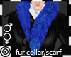*m Blue Fur Collar Scarf