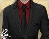 Black Suit + Red Shirt