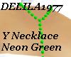 D77 Neongreen Ynecklace