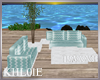 K w blue rustic  couch