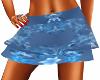 Blue Layered Mini Skirt