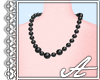 Pearl Necklace~ Black