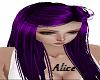 Purple hair cute