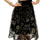 Elegant skirt blk floral