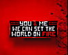 ::You & Me:: Fire! BADGE