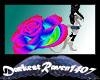 Rainbow Rose Tail White