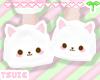 T° White Kitty Slippers