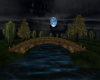 Blue Moonlit Park
