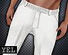 [Yel] White pants M