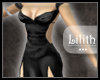 -L.- Silk Black Dress
