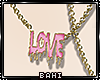 Bl Melted Love Necklace