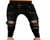 R&R BLACK RIPPED JEANS