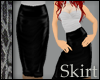 Leather Blk Pencil Skirt