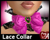 .a Heart Lace Collar Pnk