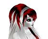 red/white hair