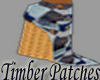 *PW*Timber Patches Blue