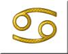 Gold Cancer Symbol sm